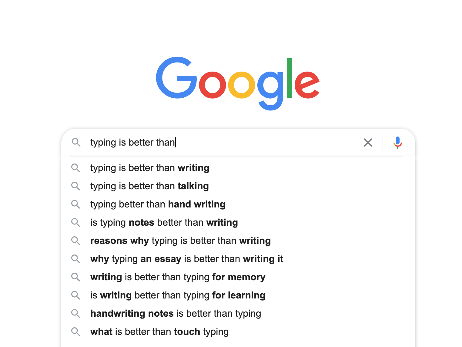 Is typing better than handwriting?